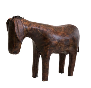 Leather Donkey Footstool