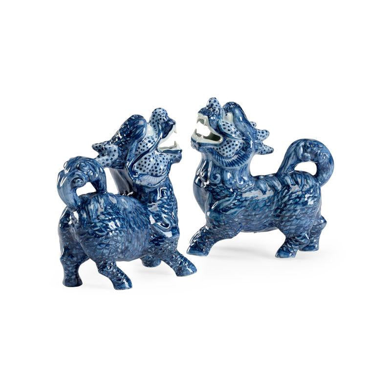 Pair of Blue Shi Dogs