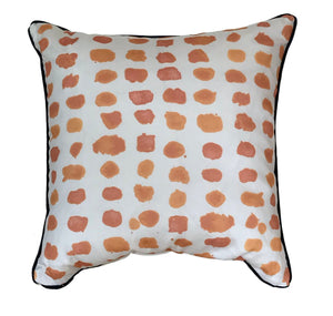 Sunset Guinea Pillow with Lapis Cording