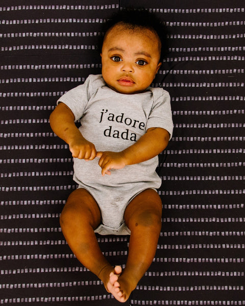 Apparel & Accessories > Clothing > Baby & Toddler Clothing > Baby One Pieces - J'adore Dada Bodysuit ?id=18895627845786