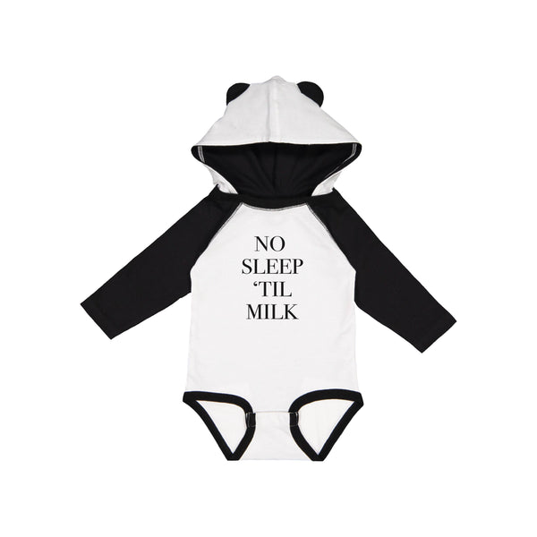 Apparel & Accessories > Clothing > Baby & Toddler Clothing > Baby One Pieces - No Sleep 'Til Milk Bodysuit