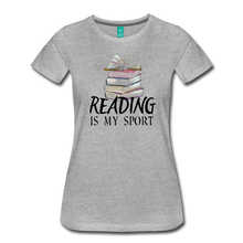 Load image into Gallery viewer, READING IS MY SPORT PREMIUM SHIRT - heather gray