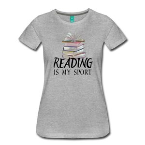 READING IS MY SPORT PREMIUM SHIRT - heather gray