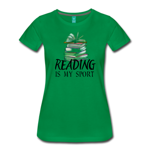 READING IS MY SPORT PREMIUM SHIRT - kelly green
