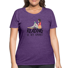Load image into Gallery viewer, Reading Is My Sport Women's Curvy T-Shirt - heather purple