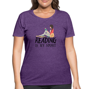 Reading Is My Sport Women's Curvy T-Shirt - heather purple