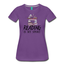 Load image into Gallery viewer, READING IS MY SPORT PREMIUM SHIRT - purple