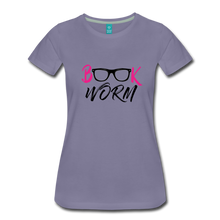 Load image into Gallery viewer, BOOK WORM Premium Light Color Tshirts - washed violet