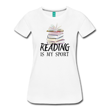 Load image into Gallery viewer, READING IS MY SPORT PREMIUM SHIRT - white