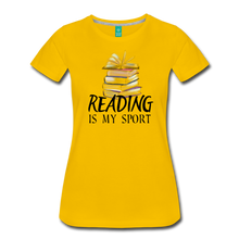 Load image into Gallery viewer, READING IS MY SPORT PREMIUM SHIRT - sun yellow