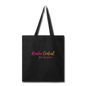READER CENTRAL BOOK WORM Tote Bag - black