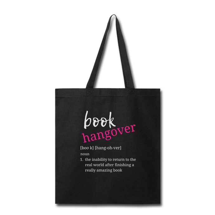 BOOK HANGOVER TOTEBAG - black
