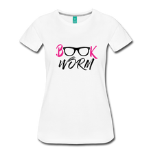 Load image into Gallery viewer, BOOK WORM Premium Light Color Tshirts - white