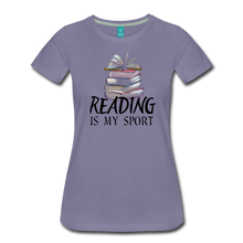 Load image into Gallery viewer, READING IS MY SPORT PREMIUM SHIRT - washed violet