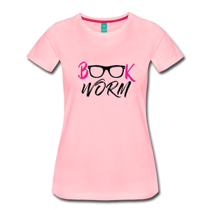BOOK WORM Premium Light Color Tshirts - pink