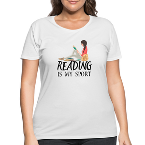 Reading Is My Sport Women's Curvy T-Shirt - white