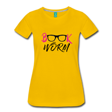 Load image into Gallery viewer, BOOK WORM Premium Light Color Tshirts - sun yellow