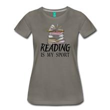 Load image into Gallery viewer, READING IS MY SPORT PREMIUM SHIRT - asphalt gray
