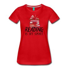 Load image into Gallery viewer, READING IS MY SPORT PREMIUM SHIRT - red