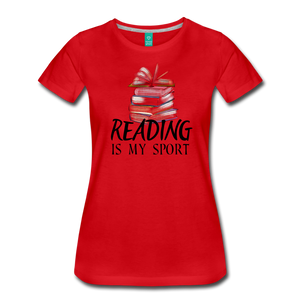 READING IS MY SPORT PREMIUM SHIRT - red
