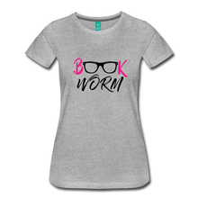 Load image into Gallery viewer, BOOK WORM Premium Light Color Tshirts - heather gray