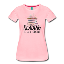 Load image into Gallery viewer, READING IS MY SPORT PREMIUM SHIRT - pink