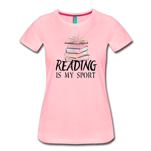 READING IS MY SPORT PREMIUM SHIRT - pink