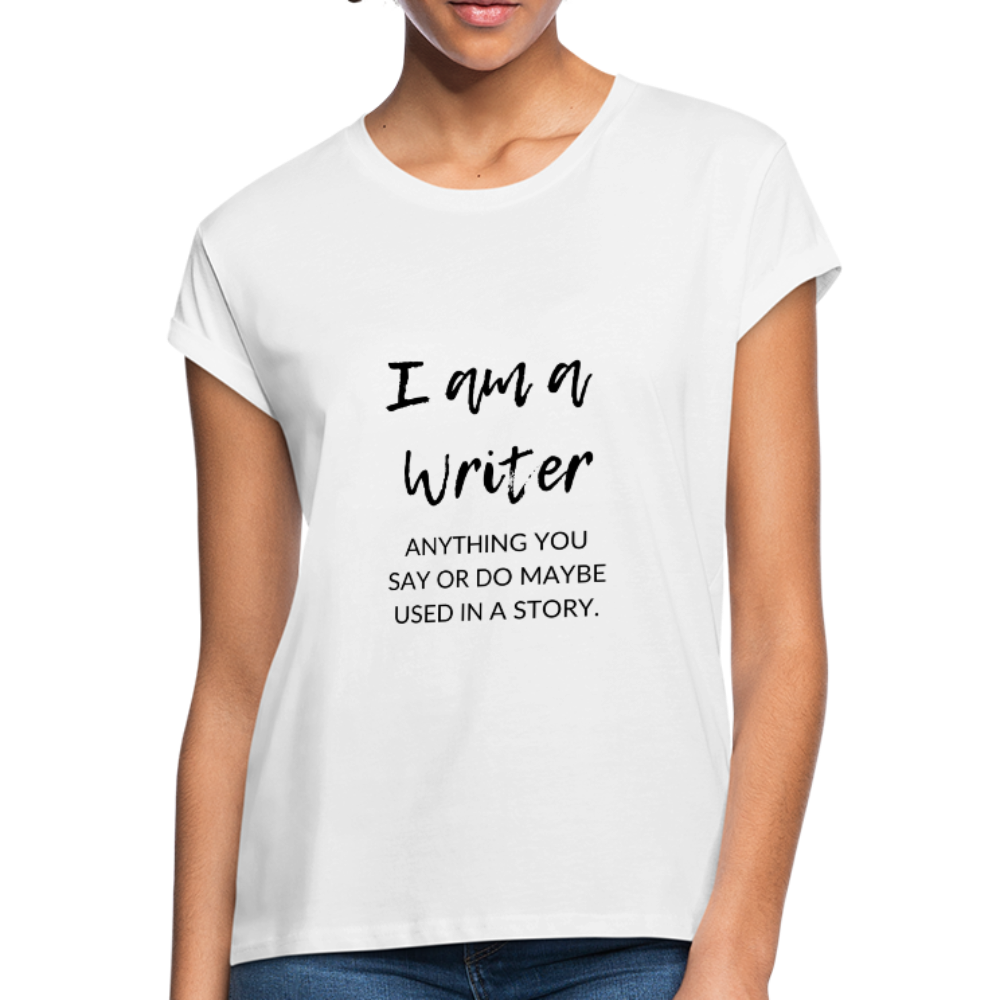 I'm a Writer Women's Relaxed Fit T-Shirt - white
