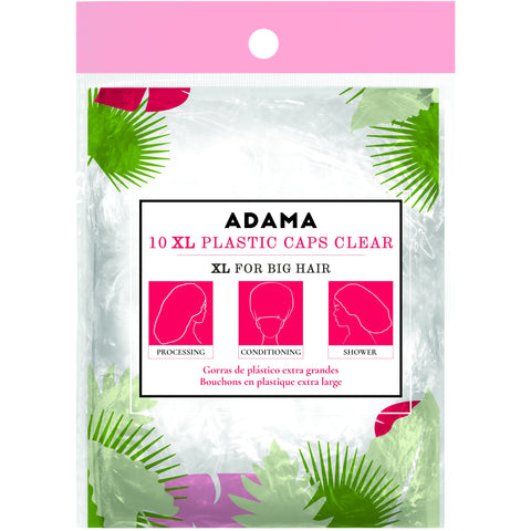 ADAMA XL Plastic Caps, 10 pack, Clear