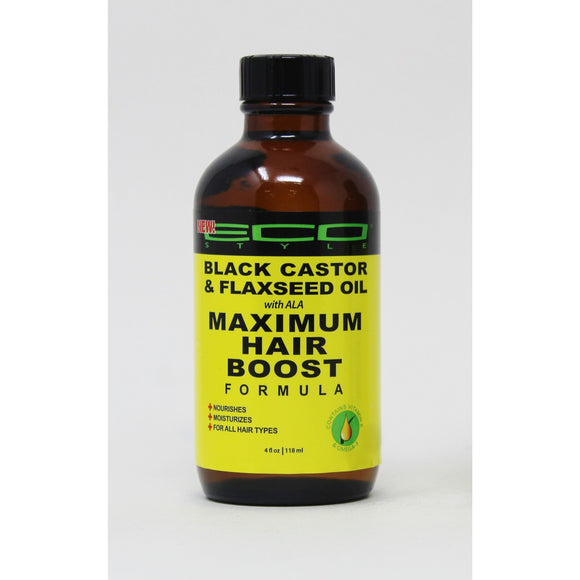 Eco Style Black Castor & Flaxseed Oil Maximum Hair Boost Formula, 4 Oz