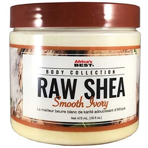 Africa's Best Raw Shea Butter Smooth Ivory 16 oz