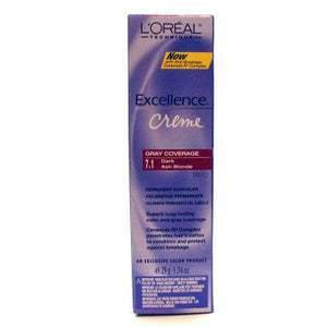 Loreal Excellence Creme Permanent Hair Color 7.1 Dark Ash Blonde 1.74 Oz