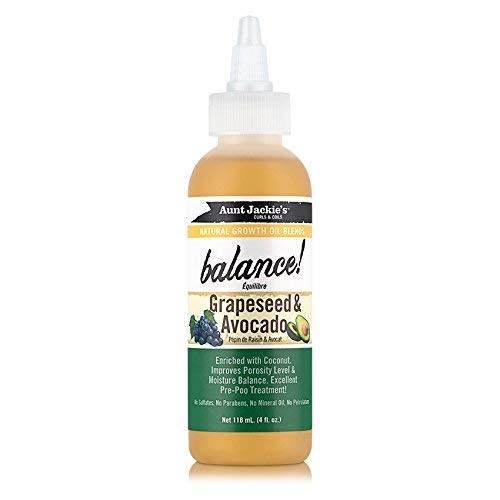 Aunt Jackie's Balance Grapeseed & Avocado Oil - 4 oz