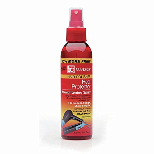Fantasia Hair Polisher Heat Protector Straightening Spray, 6 Oz