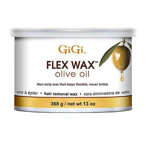 Gigi Olive Oil Flex Wax - Non-Strip Hair Removal Wax, 13 Oz