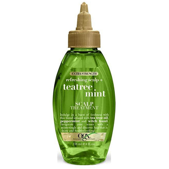 Organix Tea Tree Mint Scalp Treatment Extra-Strength 4 Ounce (118Ml)