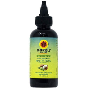 Tropic Isle Living Jamaican Coco Rosemary and Vitamin E Oil, 4 oz