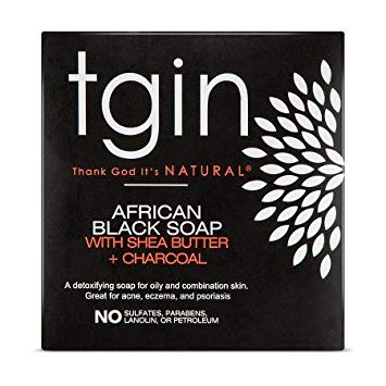 Tgin African Black Soap Bar 4 Oz