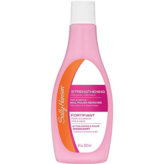Sally Hansen Nail Polish Remover 8 Oz Strengthening Pink