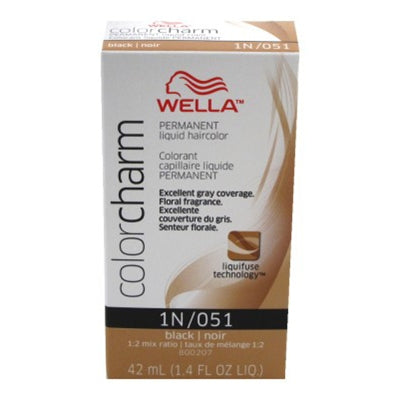 Wella Color Charm Permanent Liquid Haircolor Black #051/1N