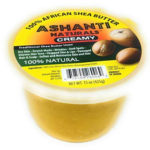 Ashanti Naturals 100% Chunky Natural African Shea Butter, Yellow, 15 Oz