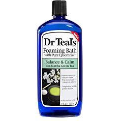 Dr. Teal's Pure Epsom Salt Matcha Green Tea Relaxing Foaming Bubble Bath - 34 Ounce