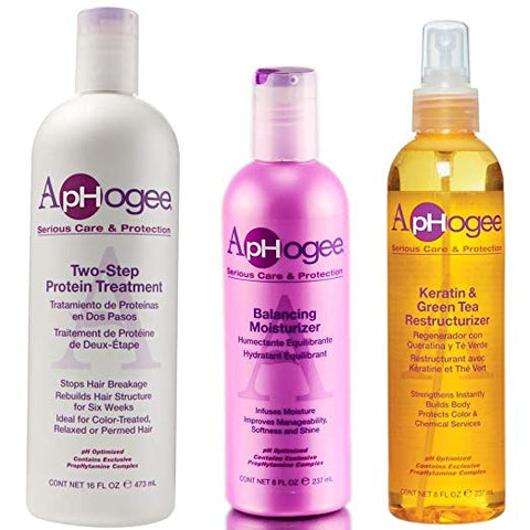 ApHogee Protein Treatment, Restructurizer, Moisturizer Trio Set HP-13571