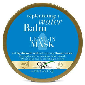Organix Replenishing + Water Balm Leave-In Mask 6 Ounce Jar (177Ml)