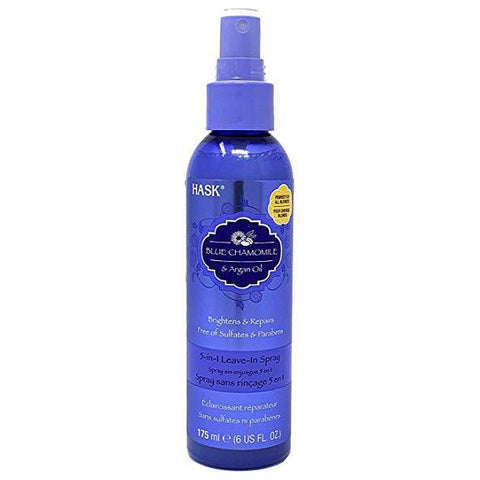 Hask Blue Chamomile Argan Oil 5 in 1 Leave In Spray Conditioner 6 oz
