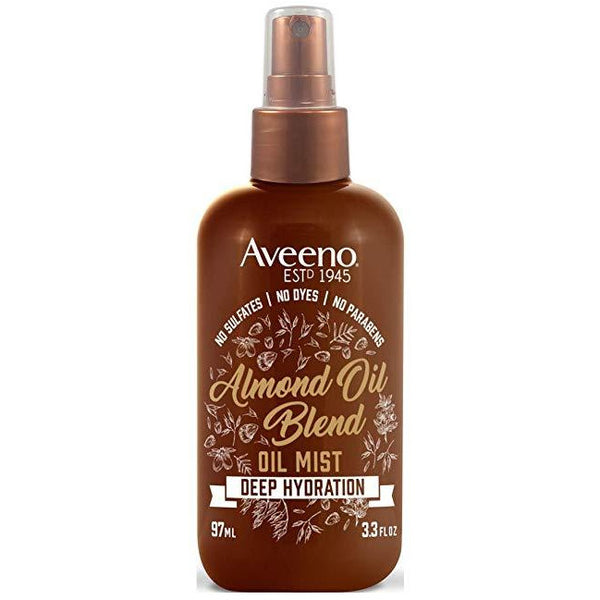 Aveeno Oil Mist Almond Oil Blend 3.3 Ounce (Deep Hydration) (97ml)