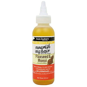 Aunt Jackie's Nourish My Hair Flaxseed & Monoi Oil - 4 oz (6 PACK)