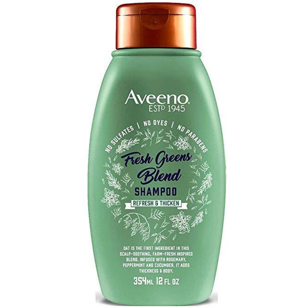 Aveeno Shampoo Fresh Greens Blend 12 Ounce (Thicken) (354ml)