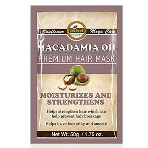 Difeel Premium Deep Conditioning Hair Mask - Macadamia Oil 1.75 Oz (12 Pack)
