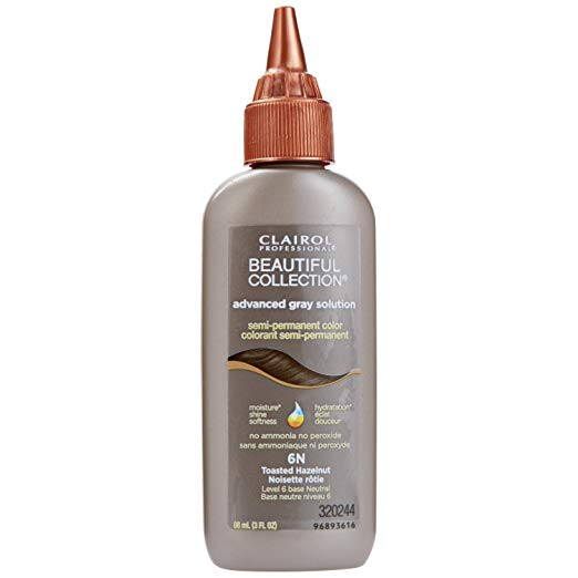 Clairol Beautiful Collection Advanced Gray Solution Hair Colo 6N Toasted Hazelnut - 3 Oz